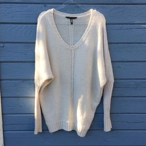 BCBG Soft Wool-Blend Oversized Sweater